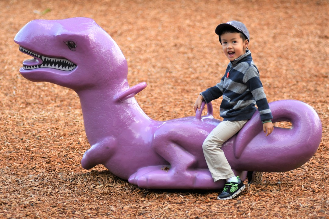 Ride-the-dinosaur-Jennings-Memorial-Park-playground-best