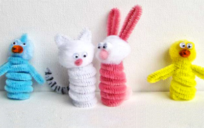 Pipe cleaner puppets