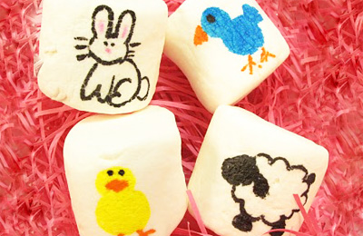 Artistic marshmallows