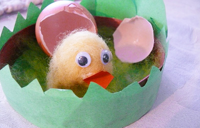Boiled wool Easter chick