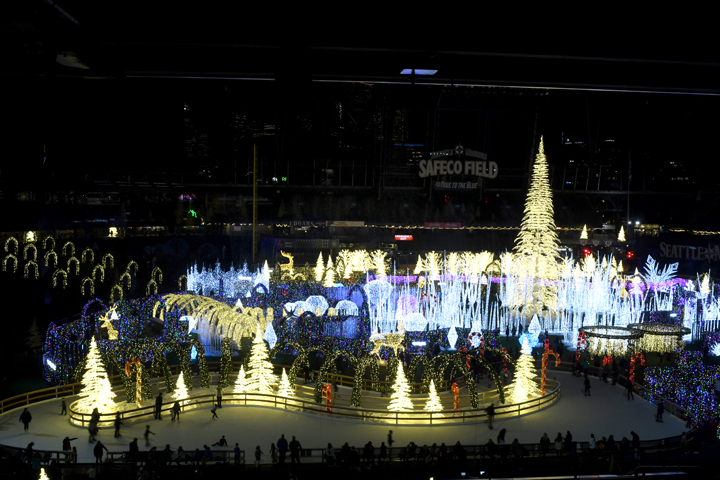 Enchant Christmas at Safeco Field for families