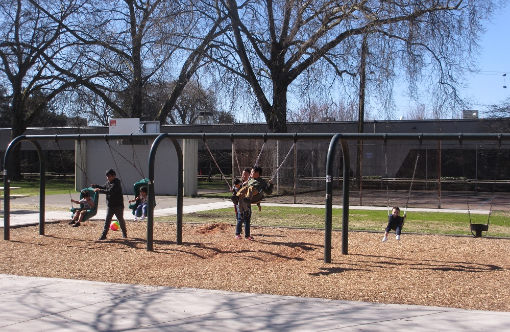 Georgetown playground swings