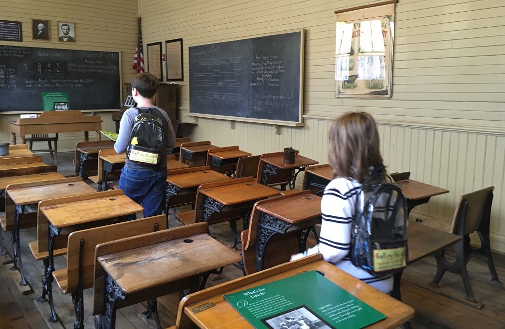 old classroom at Harbor History Museum