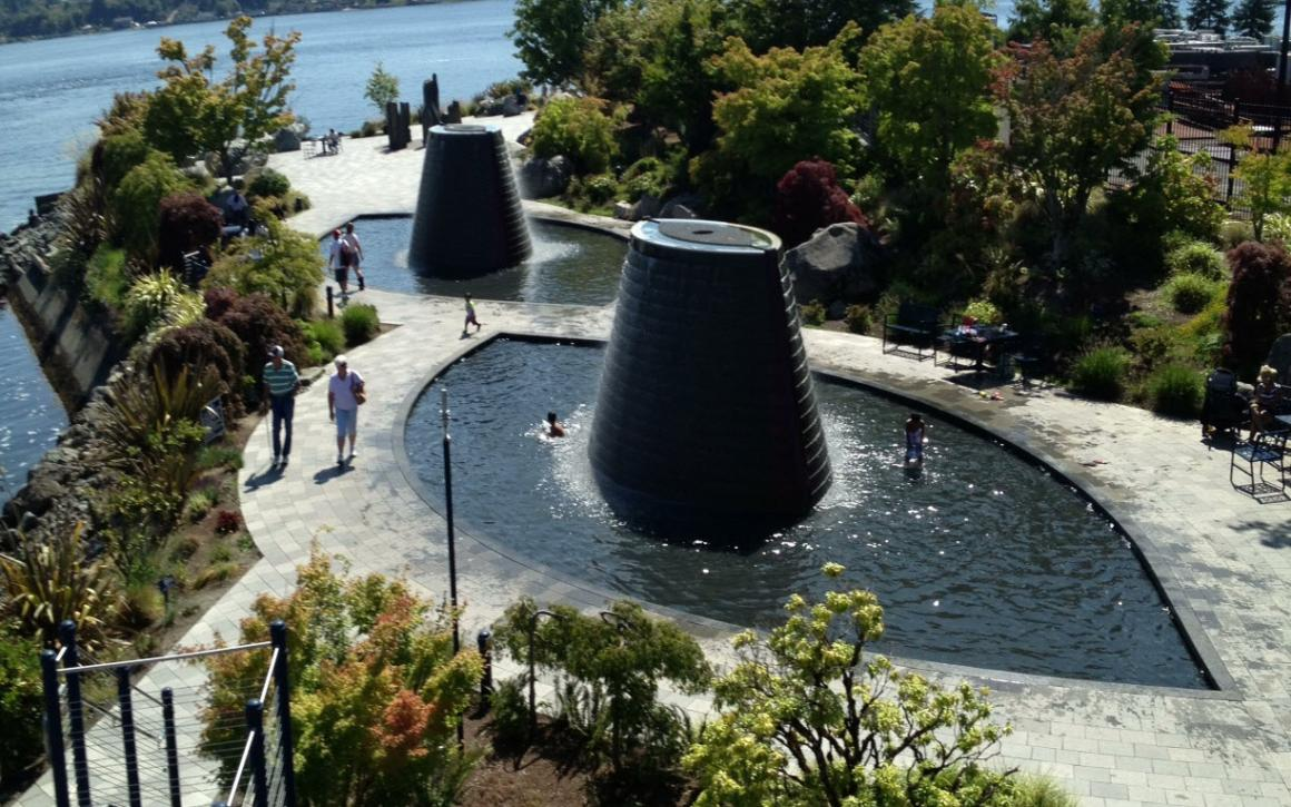 Fountains at Harborside Fountain Park in Bremerton