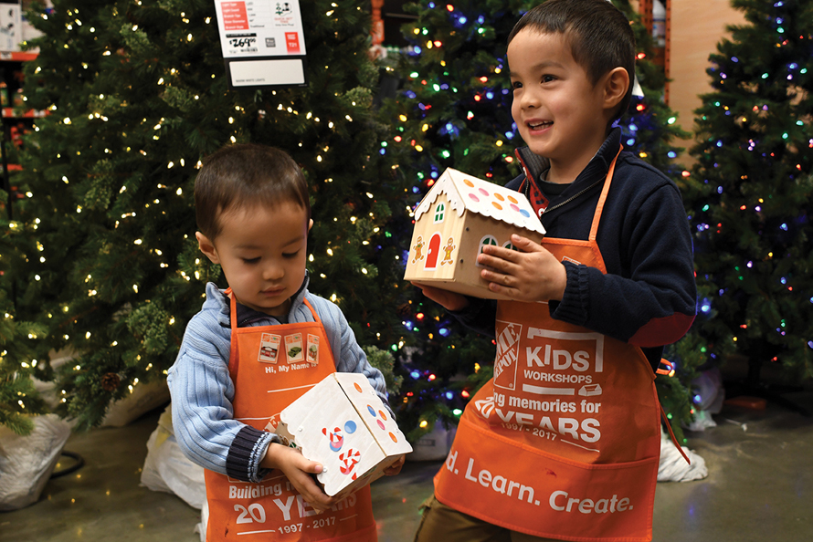 home depot workshop kids