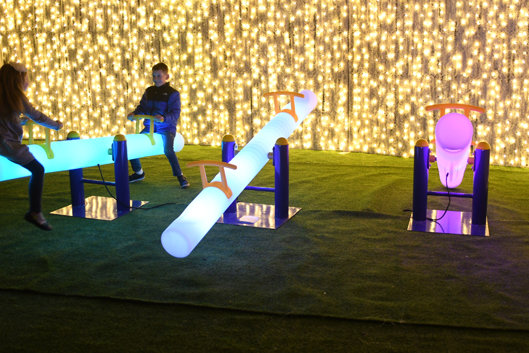 Lumaze-teeter-totter-play-area-light-show-seattle-review-kids-families