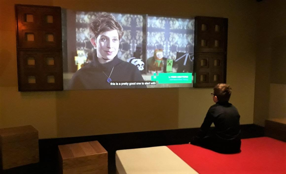 Minecraft-bed-new-MoPop-museum-exhibit-seattle-popular-video-game