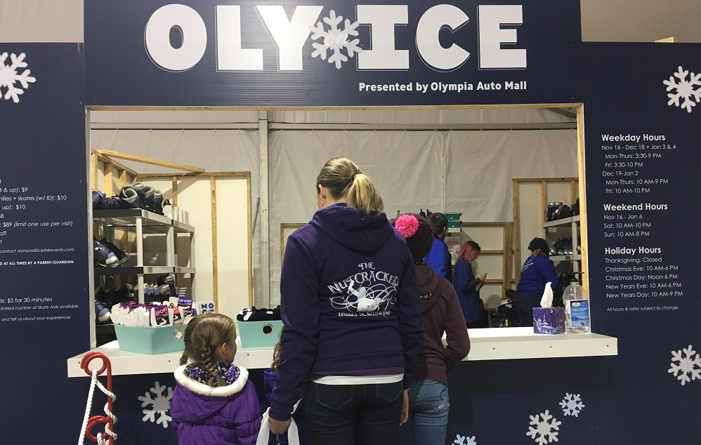 Oly on Ice skate counter