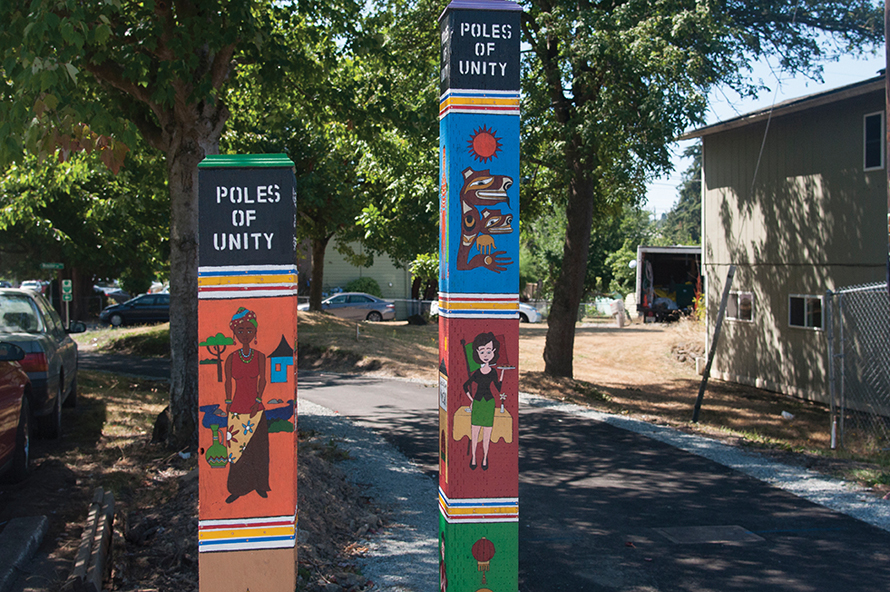 painted poles