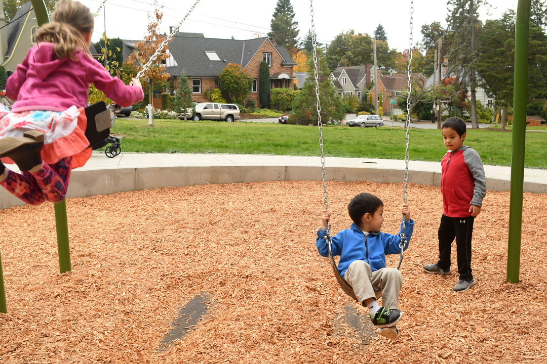 Rodgers-Park-new-playground-kids-swinging-queen-anne-hill-seattle
