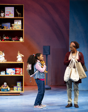 Evangeline OpongParry and Dedra D. Woods in SCT's 2019 production of Corduroy
