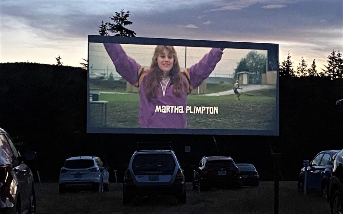 Skyline Drive-In Movie Theater showing The Goonies summer fun for seattle area families