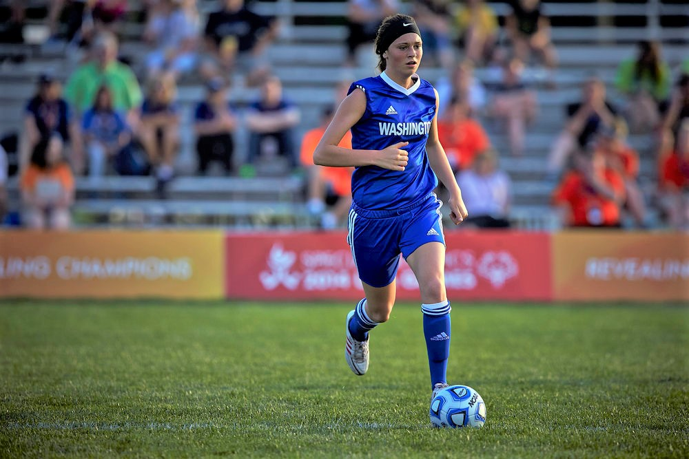soccer athlete at Special Olympics USA Games 2014