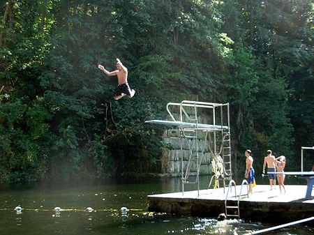 tenino quarry pool diving board