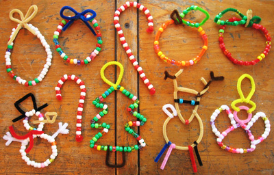 christmas beads craft - Childrens Christmas Tree Decorations