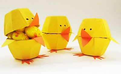 Egg carton chicks