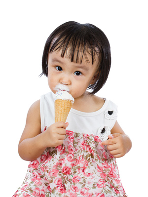 ice cream toddler