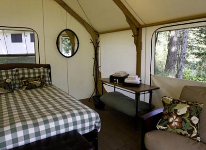 Tent at Lakedale Resort