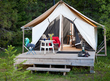 Tent at Willow Witt Ranch & Happy Glampers: Luxury Camping Spots in the Northwest | ParentMap