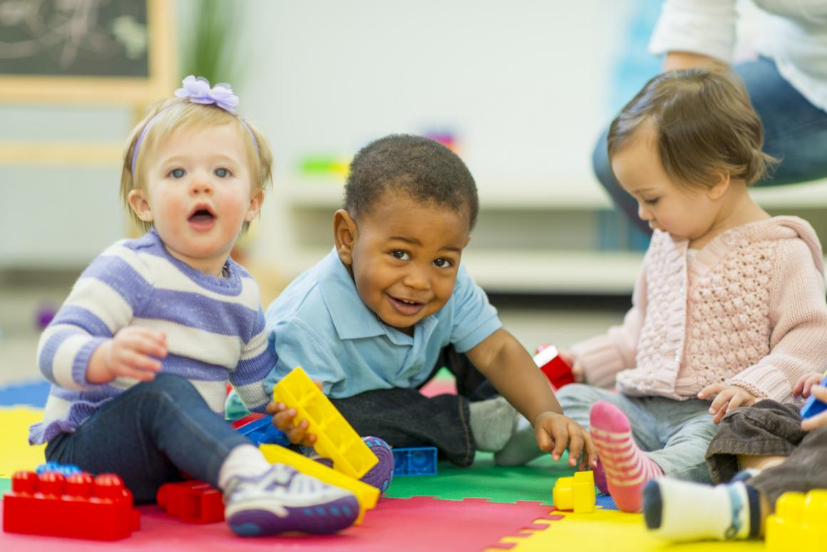 Kids playing at playcare