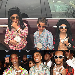 The author's children as Migos