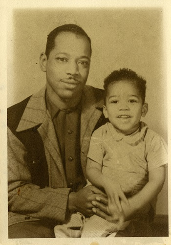 Jimi Hendrix as a young child with his father Bold as Love