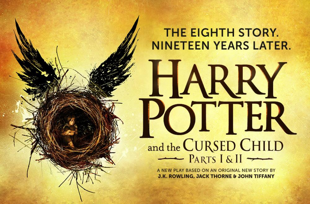 "Promotional poster for ""Harry Potter and the Cursed Child"" play"