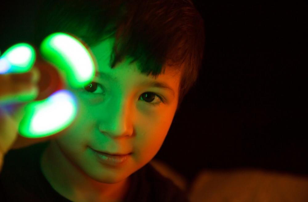 Kid with neon