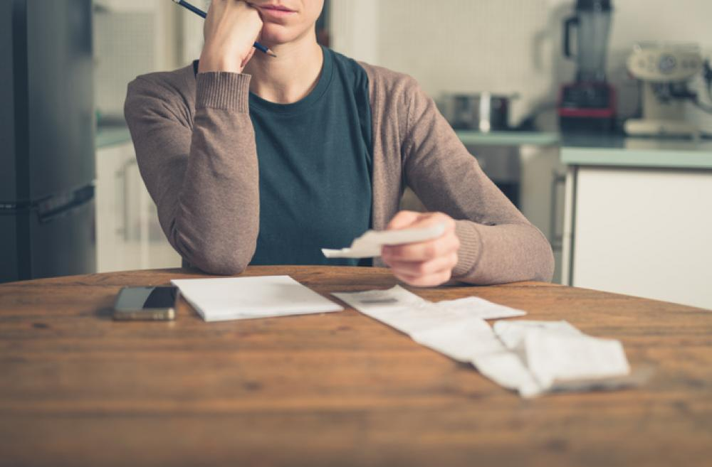 Woman handling finances