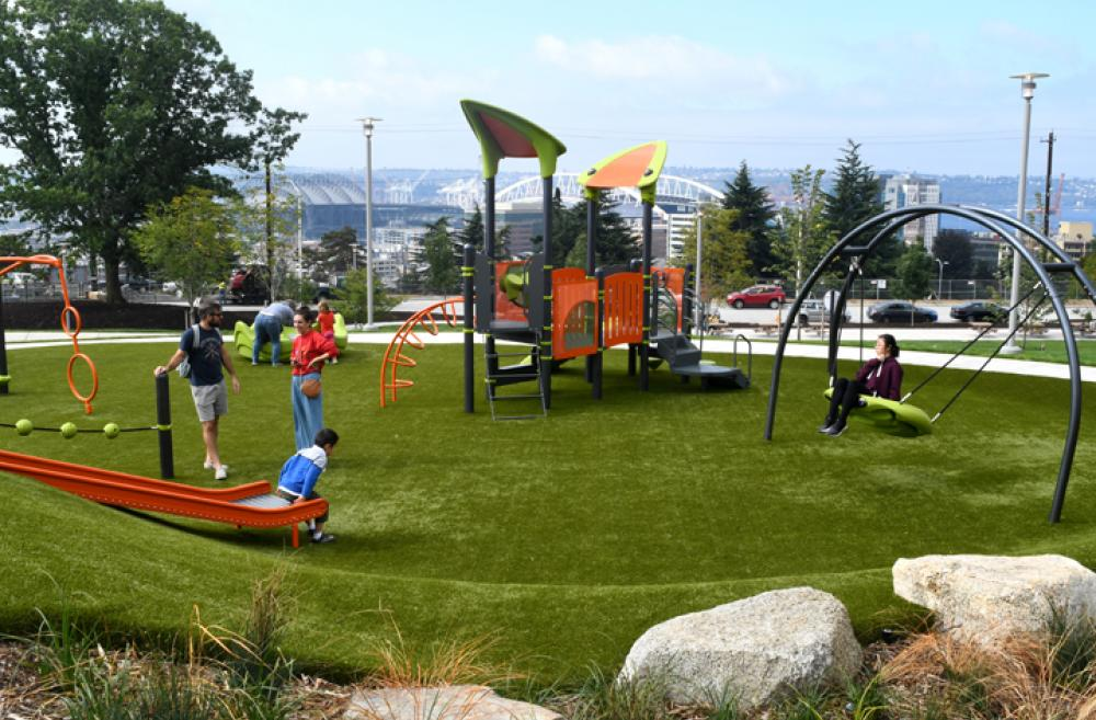 Yesler Terrace Park playground best new playgrounds of 2018