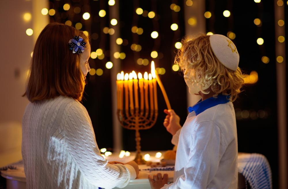 Hanukkah family kids menorah dreidel events Seattle Bellevue Eastside