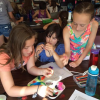 Girls at Girls Rock Math camp