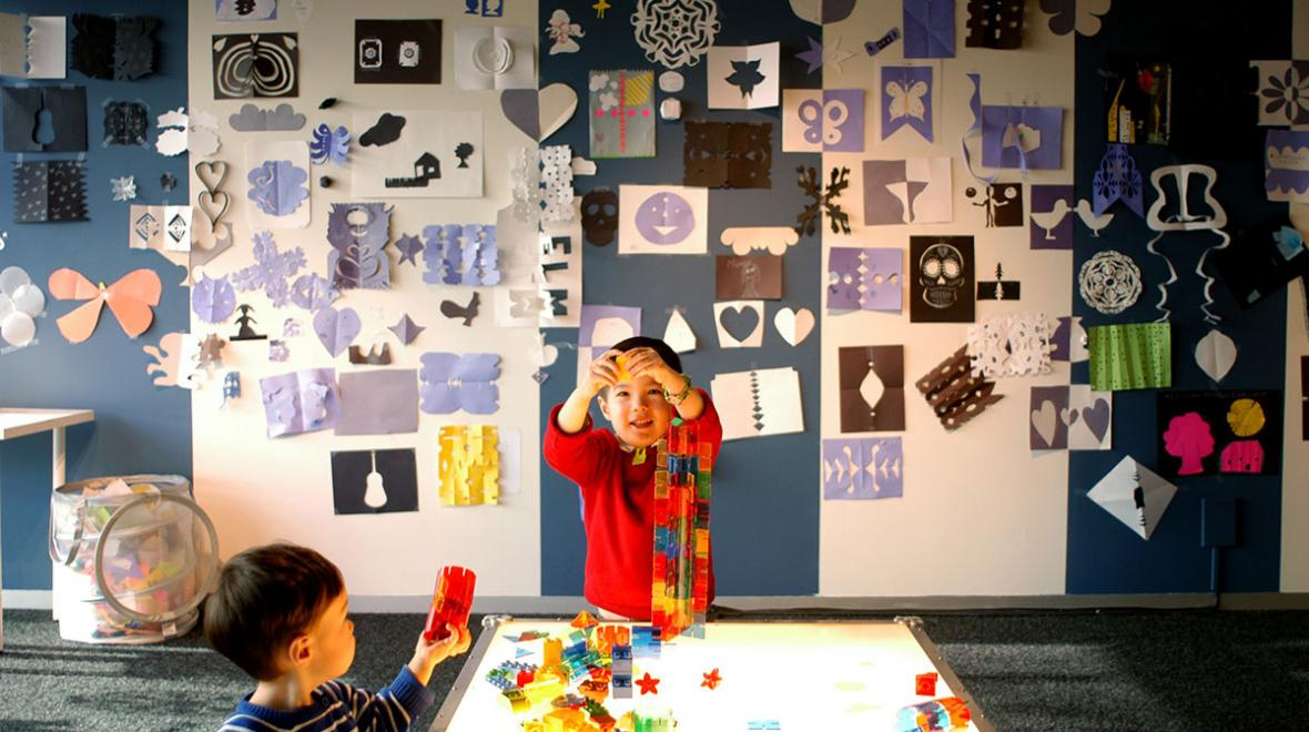 Kids get hands-on at the Bellevue Arts Museum