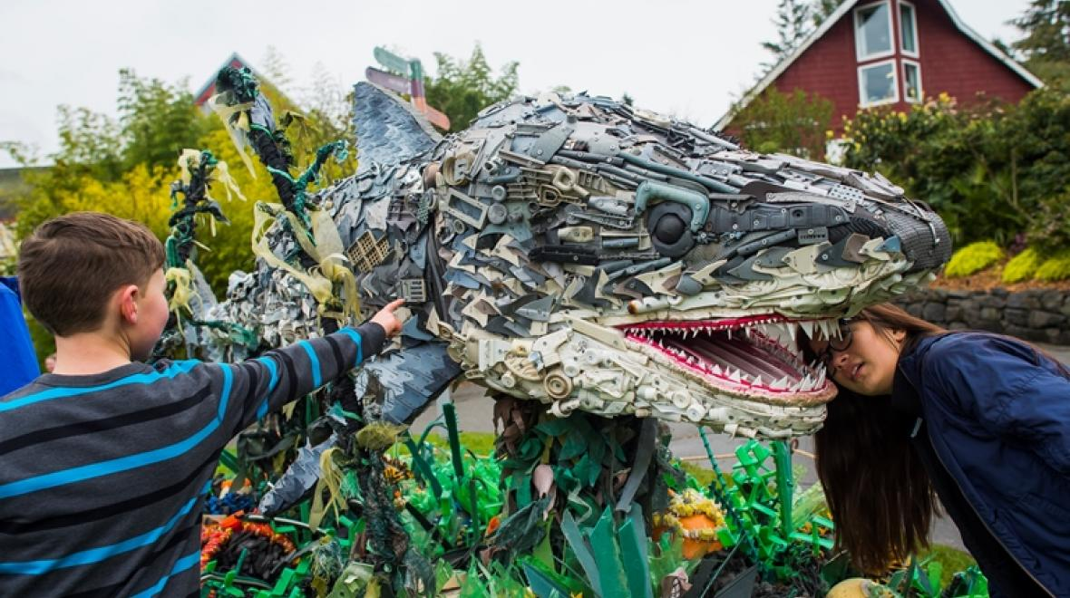 One of the artworks in 'Washed Ashore.' Photo courtesy Point Defiance Zoo & Aquarium