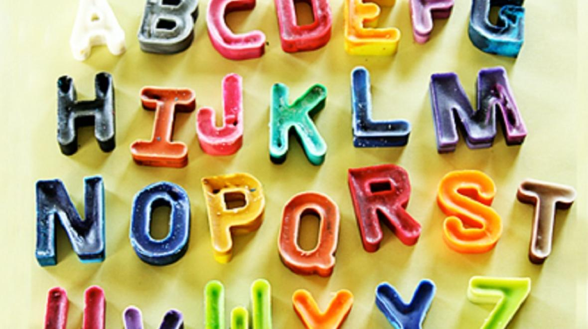 Letter crayons