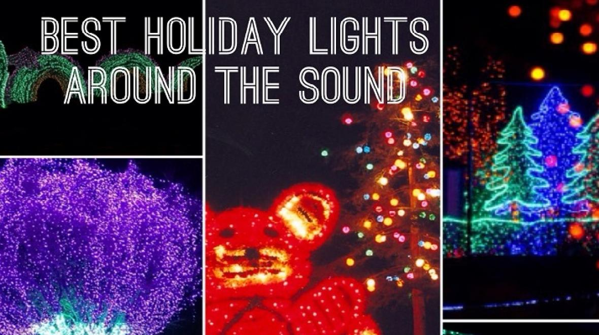 Best holiday lights around the sound collage