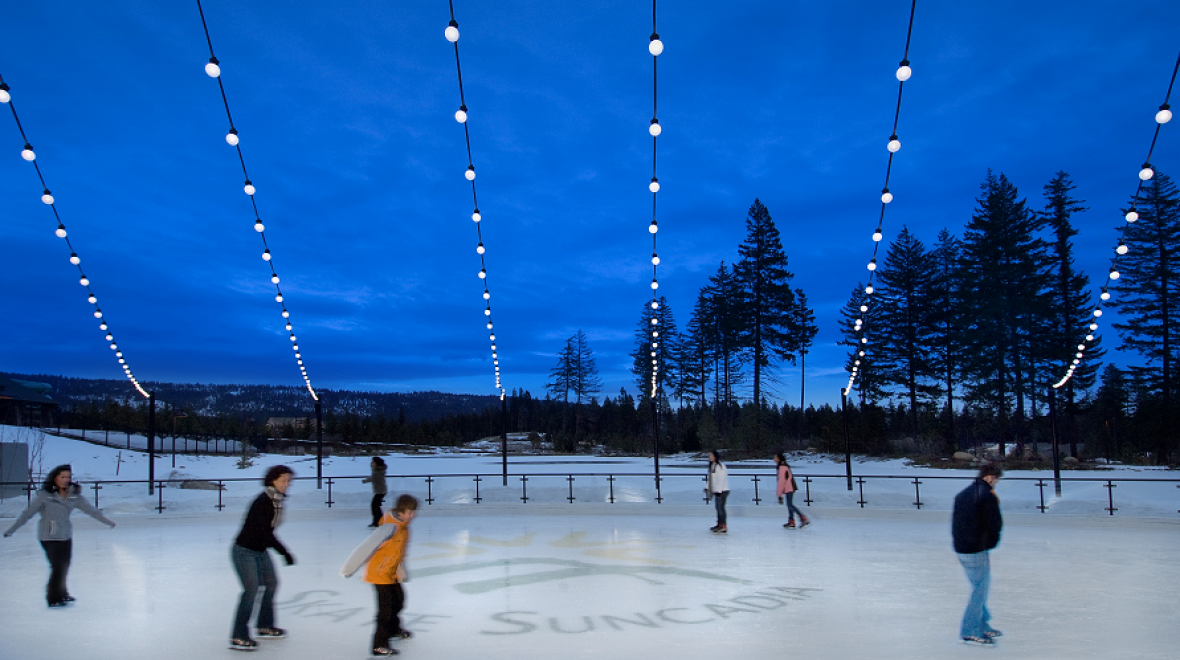 Ice rink at Suncadia