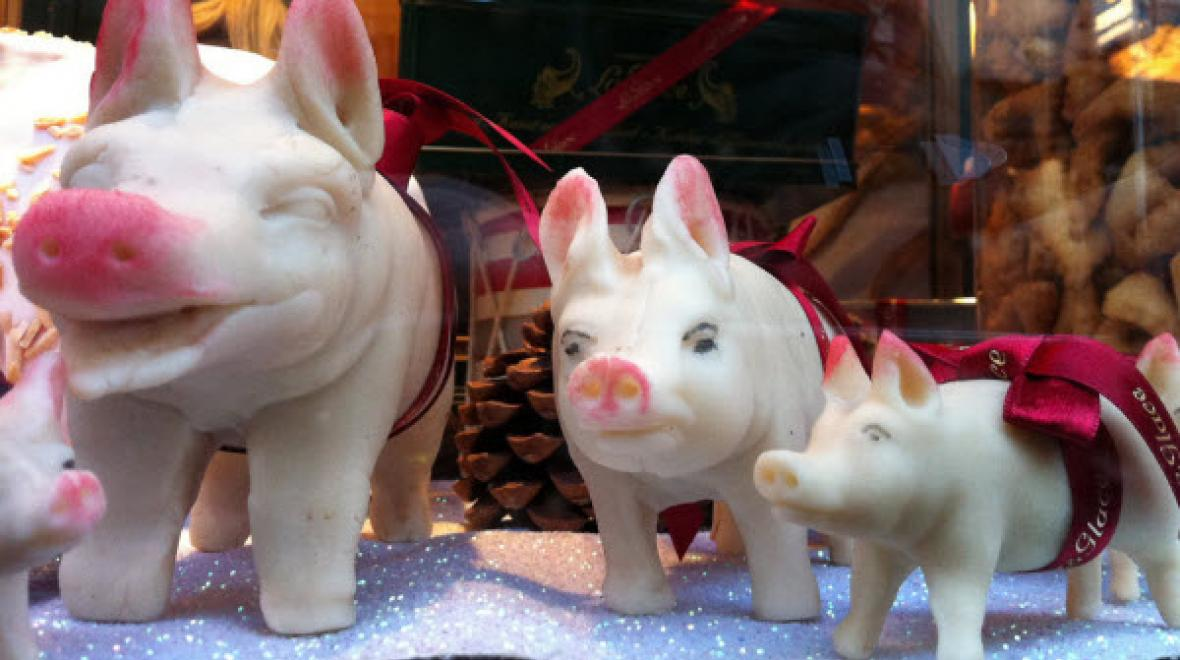 Pork and candy pigs