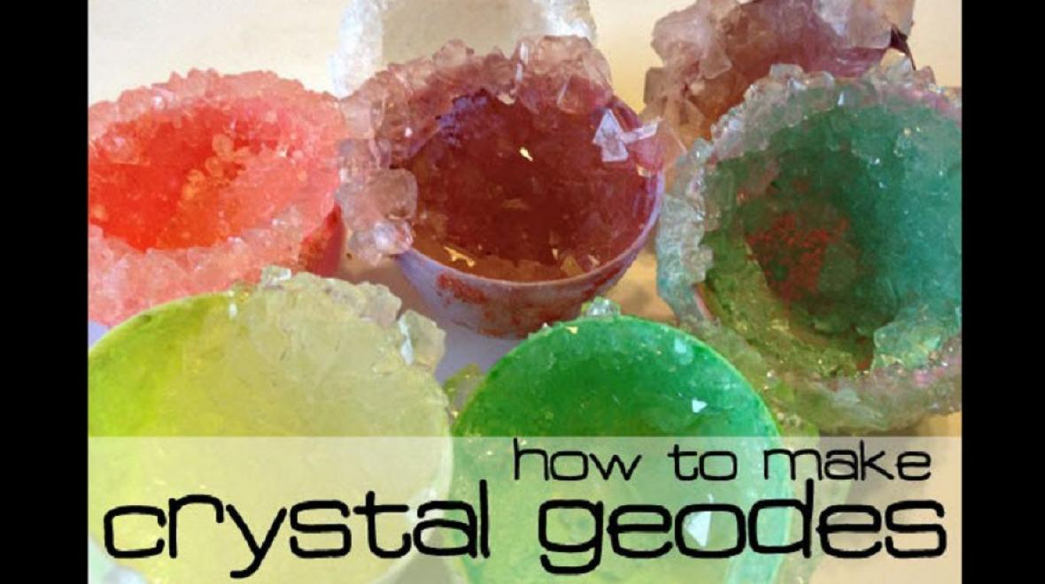 DIY crystal geodes