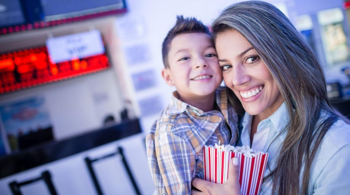 Mom-and-son-at-movies-parent-kid-date-night-ideas