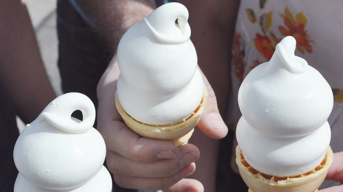 Soft serve cones at Dairy Queen