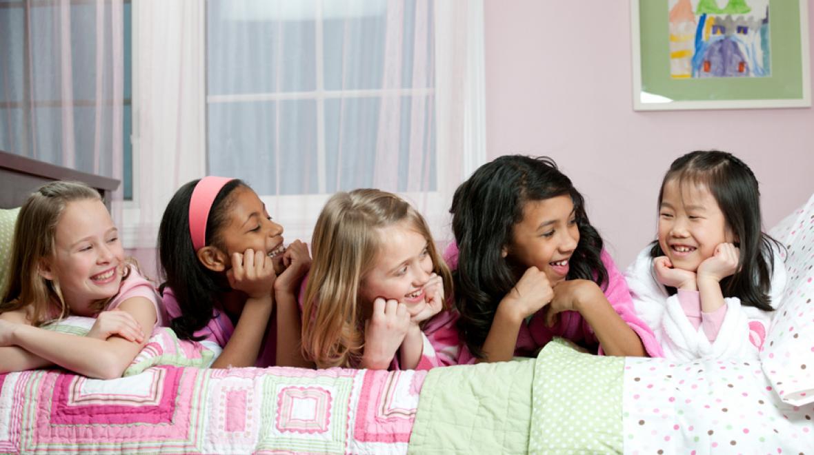 Three teens sleepover cream party com