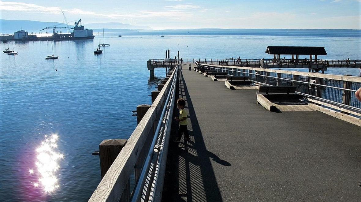 Taylor Avenue Dock in Bellingham great summer escape for families