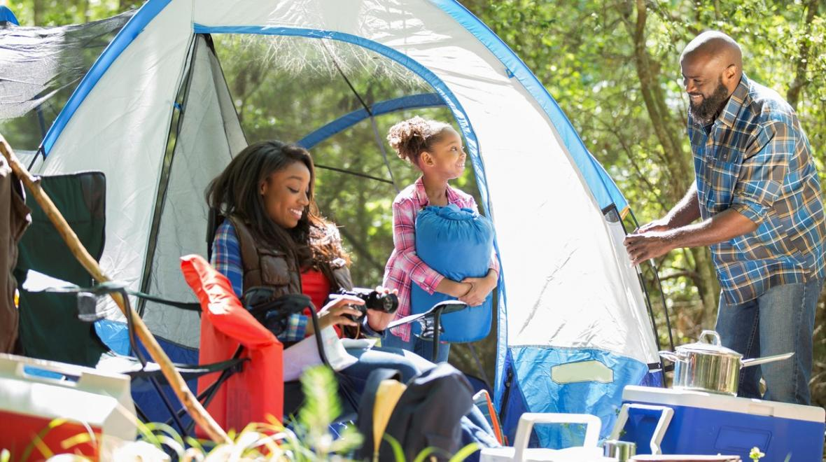 black family camping outdoor opportunities for people of color around Seattle