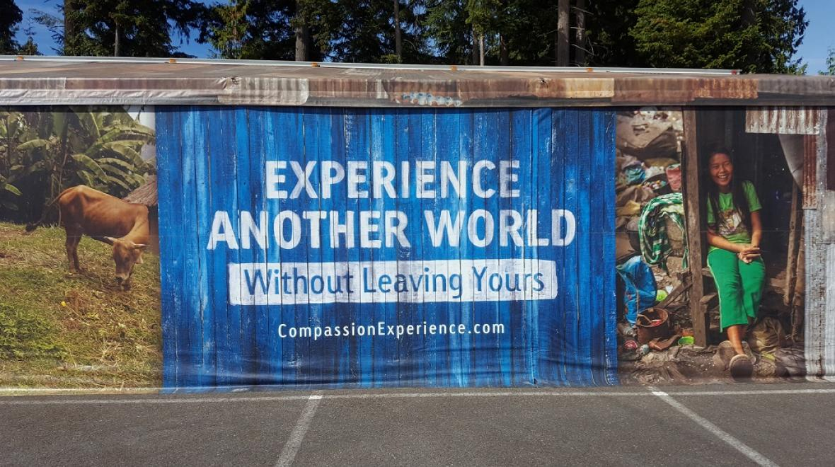 The Compassion Experience interactive exhibit on global poverty