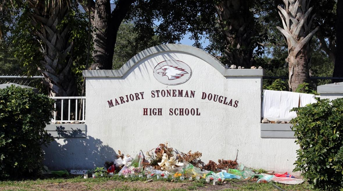Marjory Stoneman Douglas high school shooting in Parkland, Florida memorial