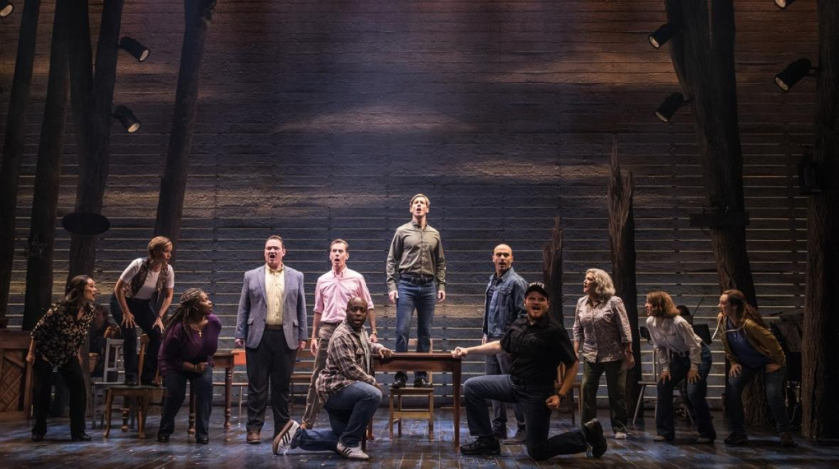 Cast of Come From Away at the 5th Avenue Theatre credit Matt Murphy