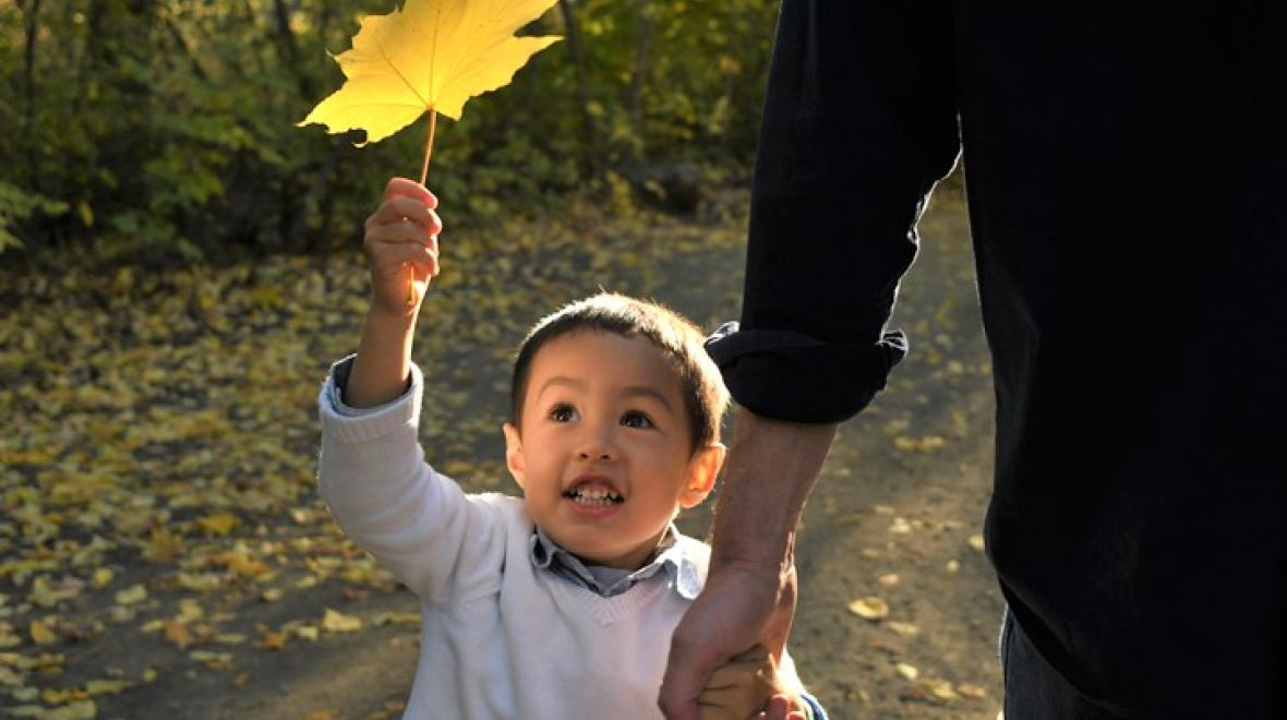 Fall leaves best places for a family photo shoot Seattle