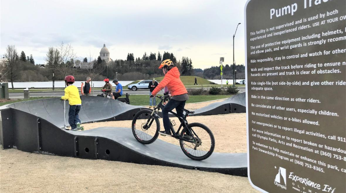 Olympia-pump-track-Isthmus-Park-kids-families