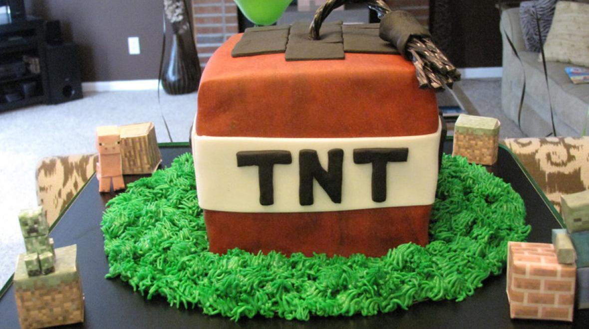Marvelous 11 Minecraft Birthday Party Ideas Funny Birthday Cards Online Alyptdamsfinfo